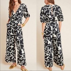 Anthropologie Farm Rio Sinead linen Jumpsuit